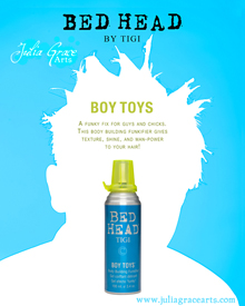 Ad for Bed Head hair gel by Tigi