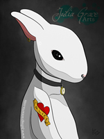 Digital Painting of The White Rabbit