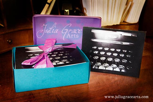Set of Royal Typewriter Greeting Cards by Julia Grace Arts