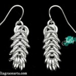 Handmade Woven Ring Earrings