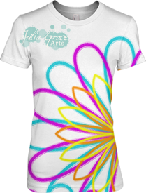 Neon Daisy T-shirt Design