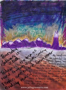 Sharpie, Acrylic, and Collage Art Journal Page