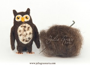Raw Fiber And Needle Felted Sculpture