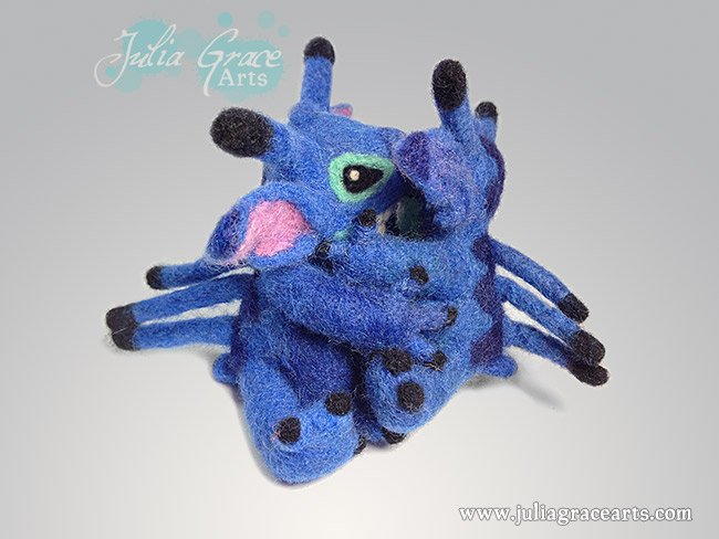 Two needle felted Disney Stitches hug
