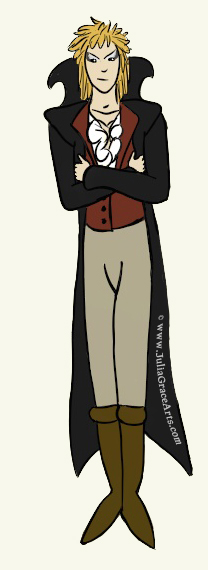 A digital drawing of Jereth from Labyrinth